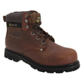 Brown - Front - Grafters Mens Gladiator Safety Boots