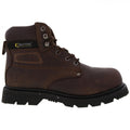 Brown - Back - Grafters Mens Gladiator Safety Boots
