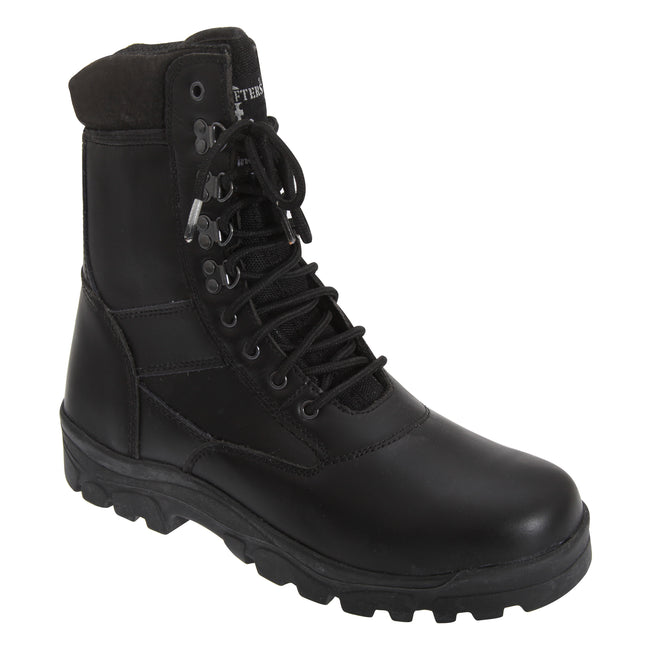 Black - Front - Grafters Mens Top Gun Thinsulate Lined Combat Boots