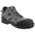Dark Grey-Black - Front - Grafters Mens Industrial Safety Hiking Boots