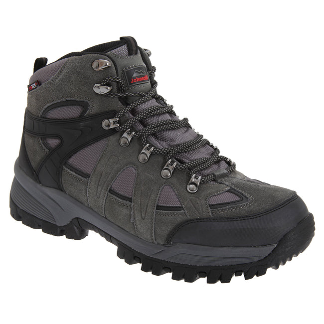 Charcoal Grey - Front - Johnscliffe Mens Andes Hiking Boots
