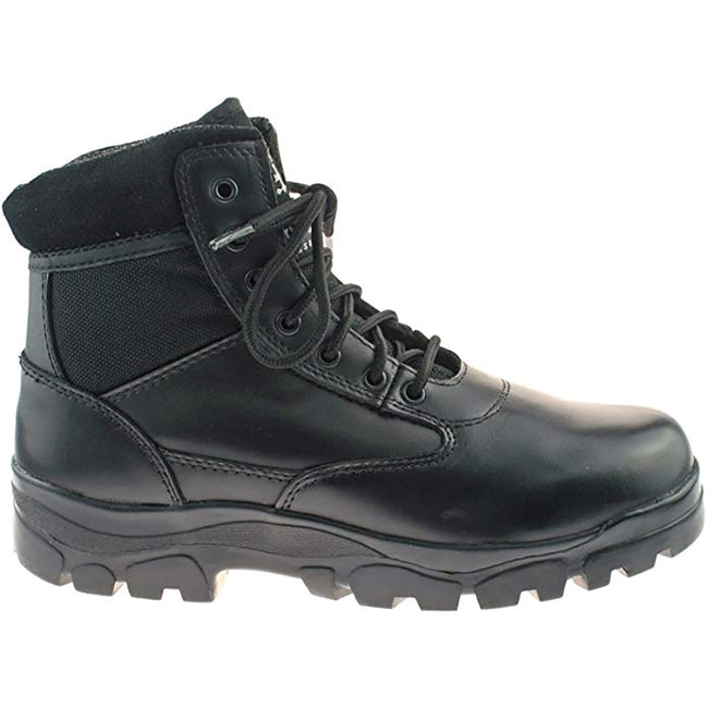Black - Back - Grafters Mens Sherman Thinsulate Lined 7 Eye Combat Boots