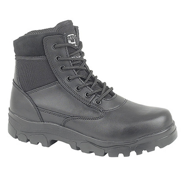 Black - Front - Grafters Mens Sherman Thinsulate Lined 7 Eye Combat Boots