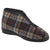 Grey - Front - Sleepers Mens Jed II Thermal Zip Check Bootee Slippers