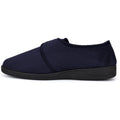 Khaki - Front - Sleepers Mens Tom Imitation Suede Touch Fastening Slippers