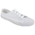 White - Front - Dek Adults Unisex Lace To Toe White Canvas Plimsolls