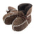 Chestnut - Front - Eastern Counties Leather Baby Sheepskin Lace Tie Booties