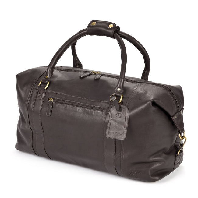 Black - Front - Eastern Counties Leather Large Holdall Bag