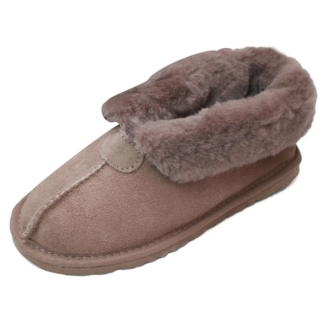 Mink - Front - Eastern Counties Leather Womens-Ladies Sheepskin Lined Split Seam Slipper Boots