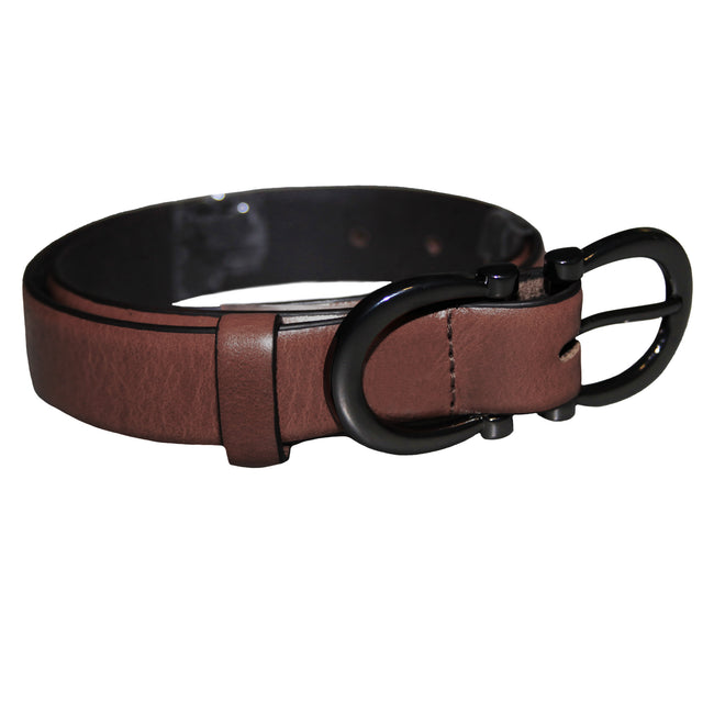 Brown - Front - Eastern Counties Leather Womens-Ladies Feature Buckle Belt