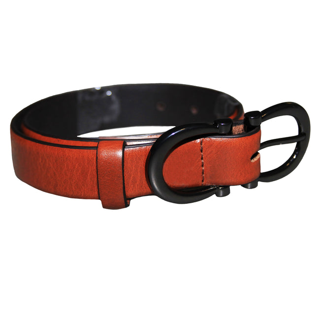 Black - Front - Eastern Counties Leather Womens-Ladies Feature Buckle Belt