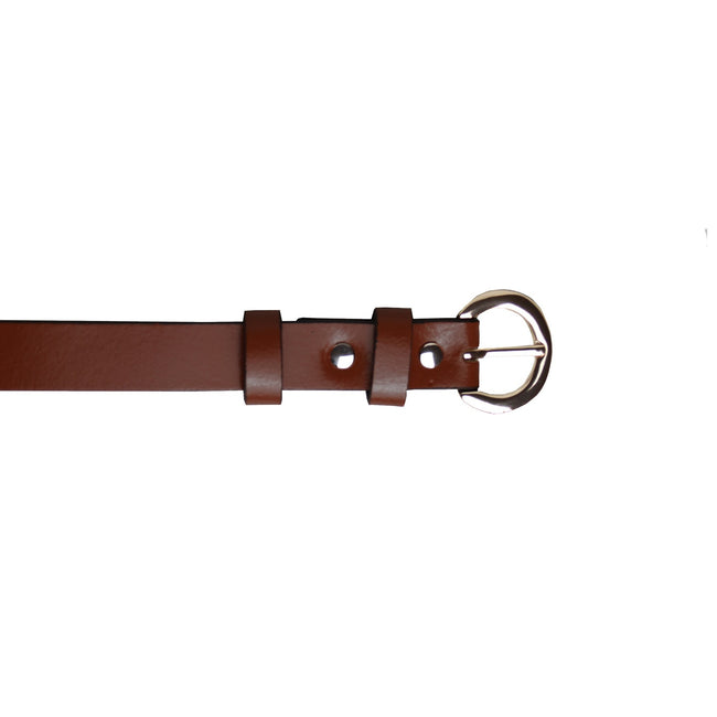 Brown - Front - Eastern Counties Leather Womens-Ladies Thin Fashion Belt