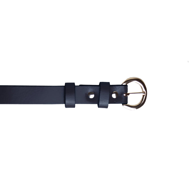 Navy - Front - Eastern Counties Leather Womens-Ladies Thin Fashion Belt