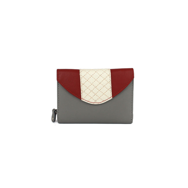 Grey-Red - Front - Eastern Counties Leather Womens-Ladies Tia Quilted Purse