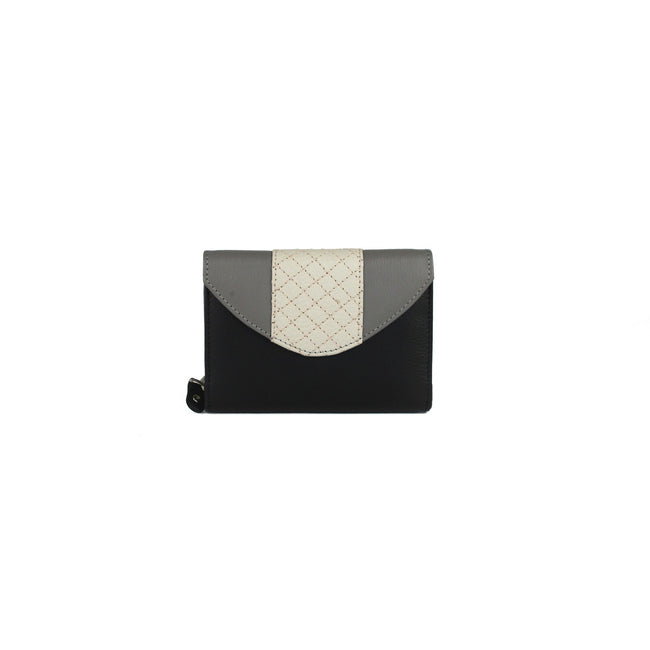 Black-Grey - Front - Eastern Counties Leather Womens-Ladies Tia Quilted Purse