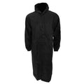 Black - Front - Mens Long Length Waterproof Hooded Coat-Jacket