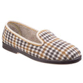 Grey - Front - GBS Everett Mens Check Slipper - Mens Slippers
