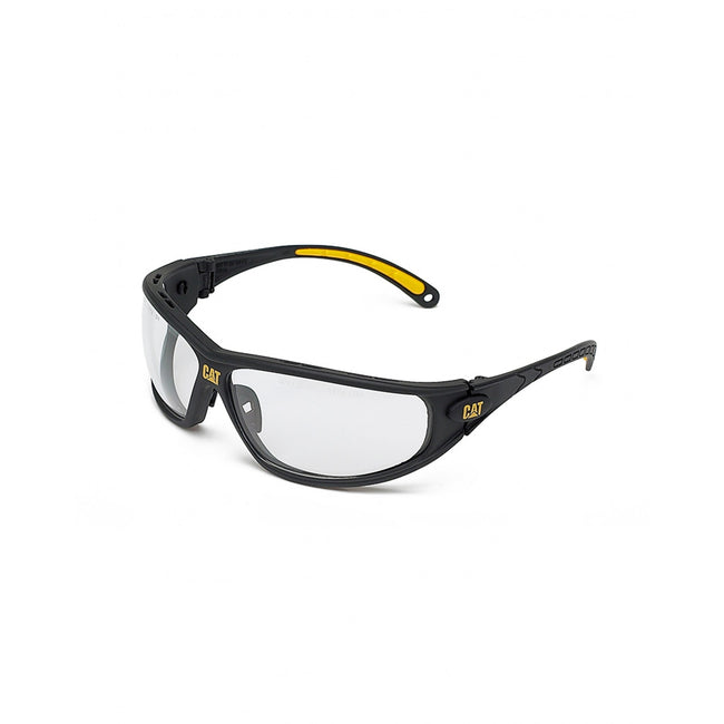 Clear - Front - Caterpillar Tread Full Frame Glasses - Workwear Acc - Eyewear