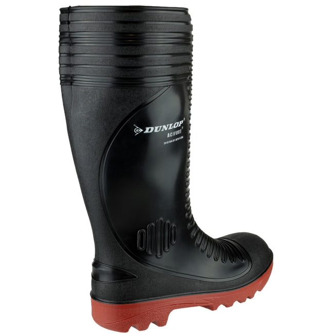 Black - Lifestyle - Dunlop Acifort A252931 Ribbed Full Safety Wellington - Mens Boots