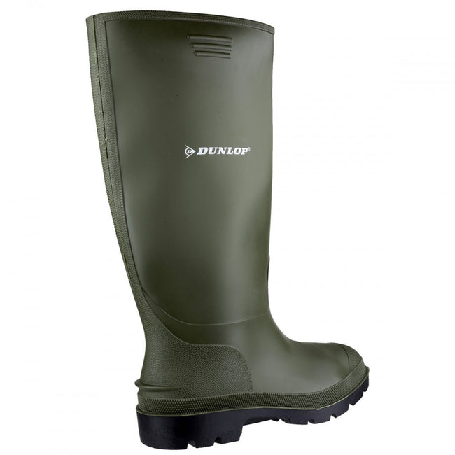 Green - Back - Dunlop Pricemastor PVC Welly - Womens Boots