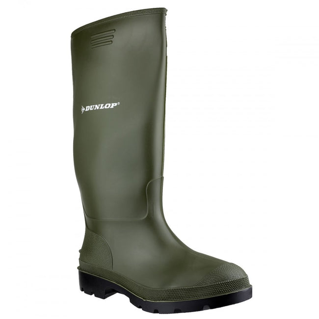 Green - Front - Dunlop Pricemastor PVC Welly - Womens Boots