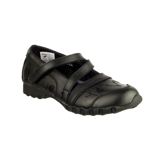 Black - Front - Mirak TESSA Childrens-Kids Shoe - Girls Shoes