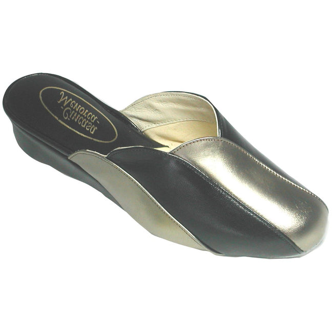 Black - Front - Cincasa Menorca Madeira Ladies Slipper - Womens Slippers