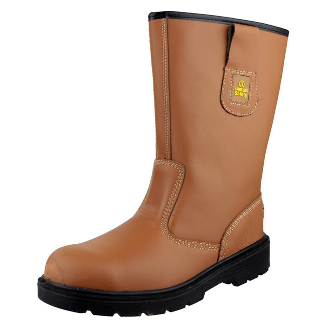 Tan - Side - Amblers Safety FS124 Safety Rigger Boot - Mens Boots