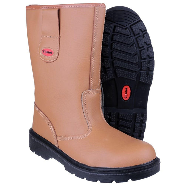 Tan - Lifestyle - Centek FS334 Safety Rigger Boot - Mens Boots