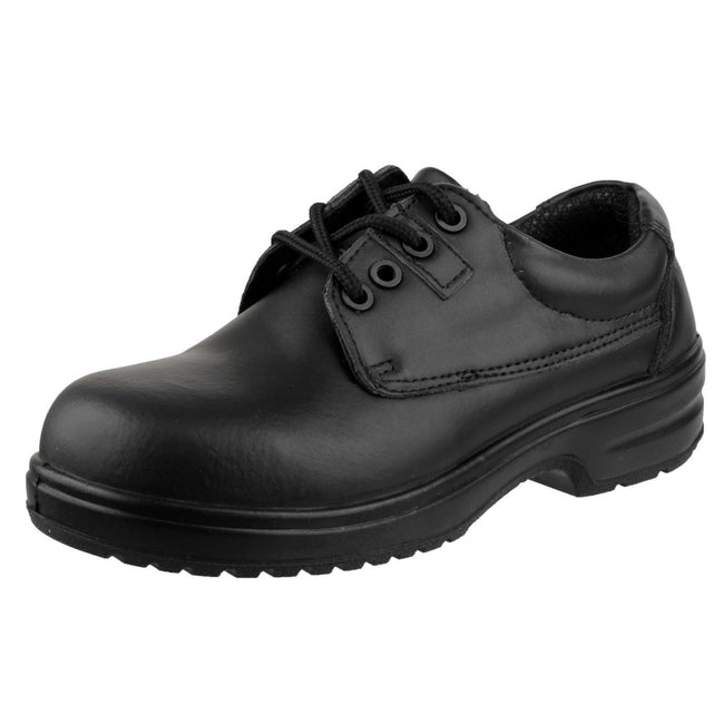 Black - Side - Amblers Safety FS121C Ladies Safety Shoe - Womens Shoes
