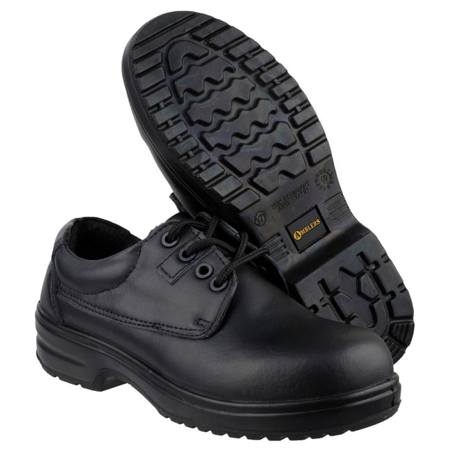 Black - Pack Shot - Amblers Safety FS121C Ladies Safety Shoe - Womens Shoes