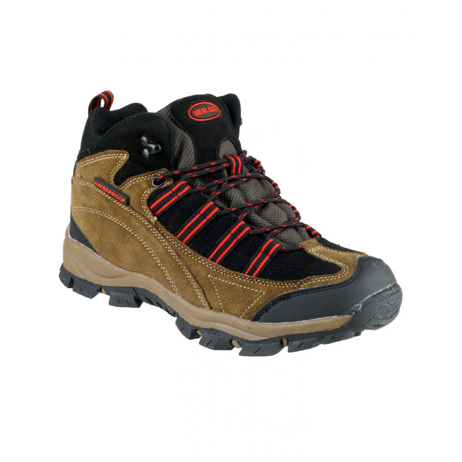 Brown-Red - Front - Mirak Kentucky Hiker Womens Hiking Boot