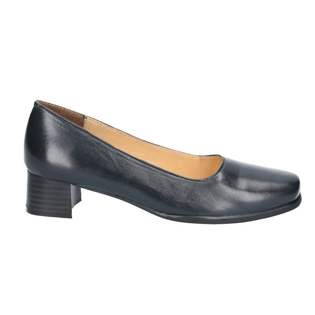 Navy - Back - Amblers Walford Ladies Wide Fit Court - Womens Shoes