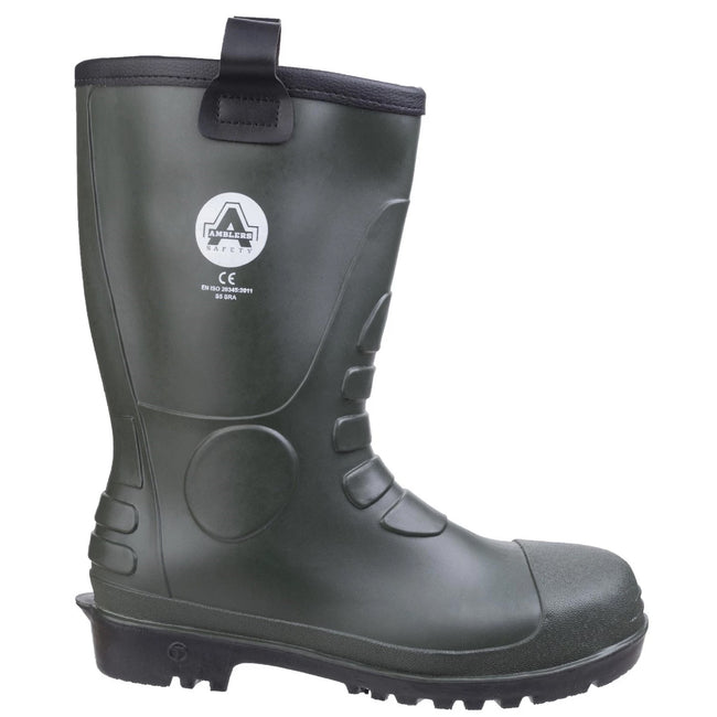 Green - Side - Footsure 97 PVC Rigger Safety Wellingtons - Mens Boots