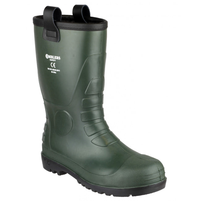 Green - Front - Footsure 97 PVC Rigger Safety Wellingtons - Mens Boots