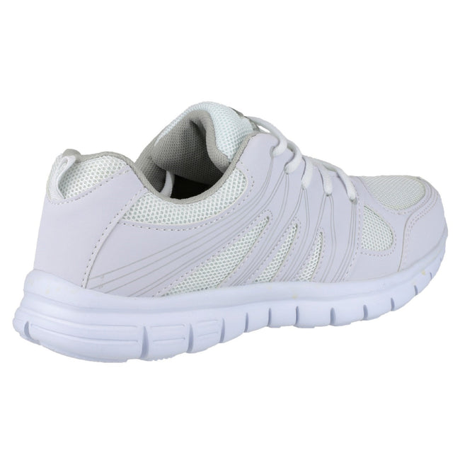White - Back - Mirak Milos Lace Mens Sports Shoe - Mens Trainers