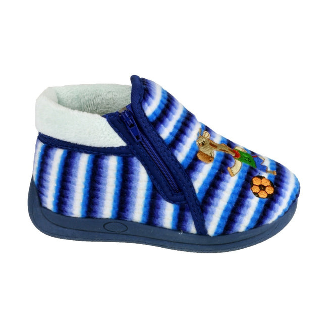 Blue - Front - Mirak Safari Childrens Unisex Slippers