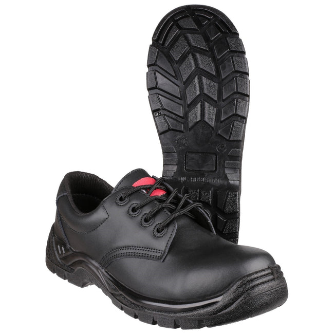 Black - Close up - Centek Mens FS311C Composite S3 SRC Safety Shoes