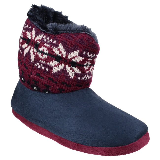 Navy - Front - Mirak Womens-Ladies Bergen Bootie Slippers