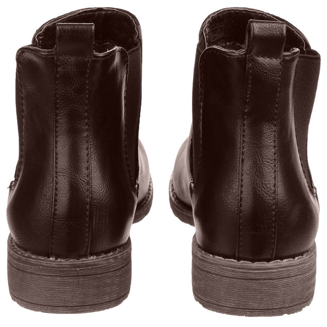 Brown - Lifestyle - Divaz Womens-Ladies Kelly Pull On Dealer Boots