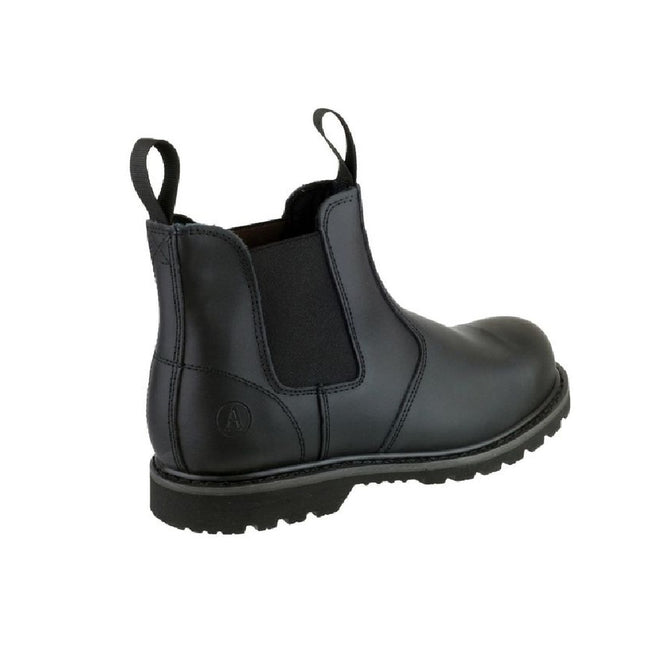 Black - Back - Amblers Unisex Steel FS5 Pull-On Dealer Boot - Womens Mens Boots