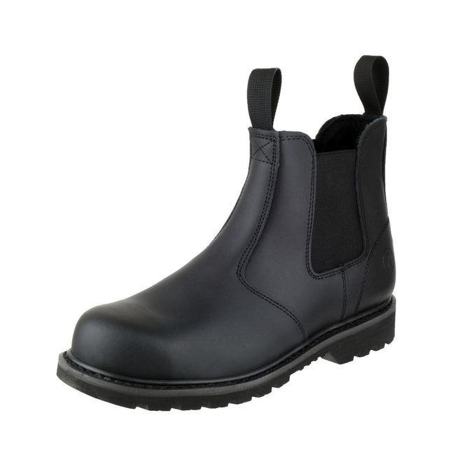 Black - Lifestyle - Amblers Unisex Steel FS5 Pull-On Dealer Boot - Womens Mens Boots