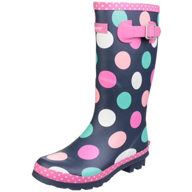 Multicoloured - Lifestyle - Cotswold Childrens Girls Dotty Spotted Wellington Boots