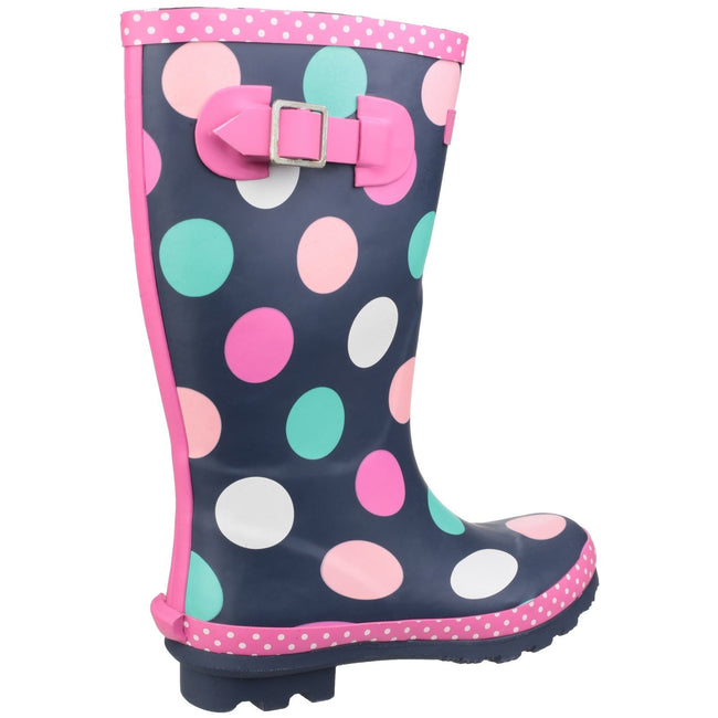 Multicoloured - Pack Shot - Cotswold Childrens Girls Dotty Spotted Wellington Boots