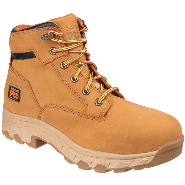 Wheat - Front - Timberland Pro Mens Workstead Lace Up Safety Boot