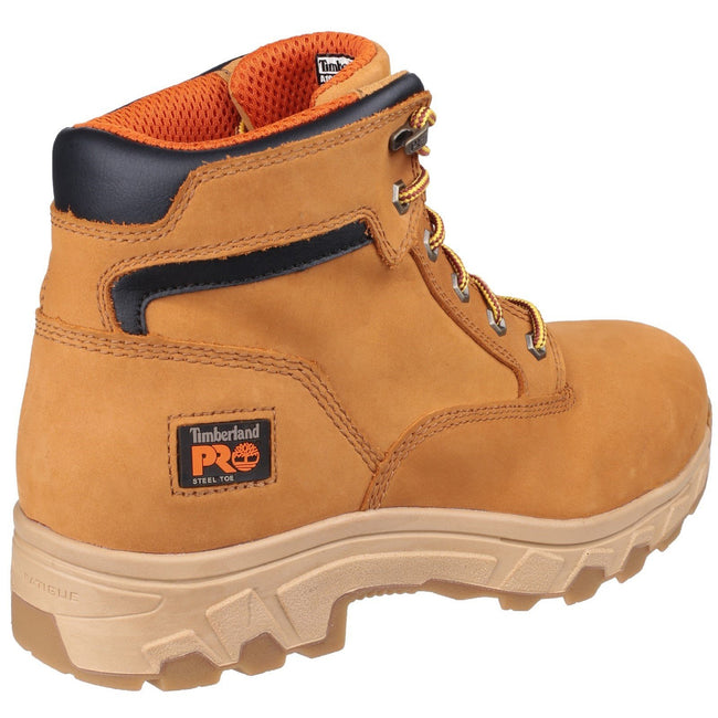 Wheat - Back - Timberland Pro Mens Workstead Lace Up Safety Boot