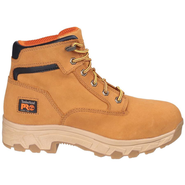 Wheat - Side - Timberland Pro Mens Workstead Lace Up Safety Boot