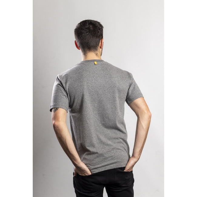 Dark Heather Grey - Pack Shot - Caterpillar Mens TM Logo Short Sleeve T-Shirt