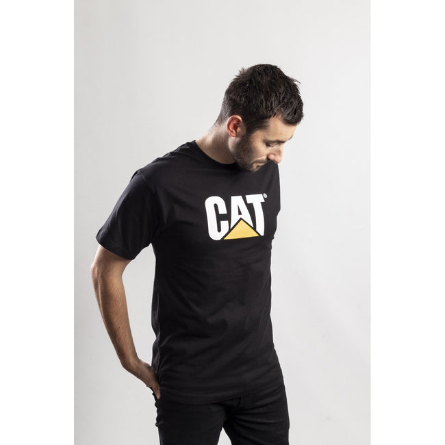 Black - Side - Caterpillar Mens TM Logo Short Sleeve T-Shirt