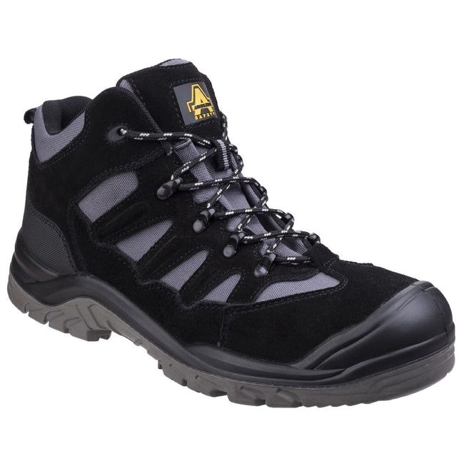 Black - Front - Amblers Safety AS251 Mens Lightweight Safety Hiker Boots